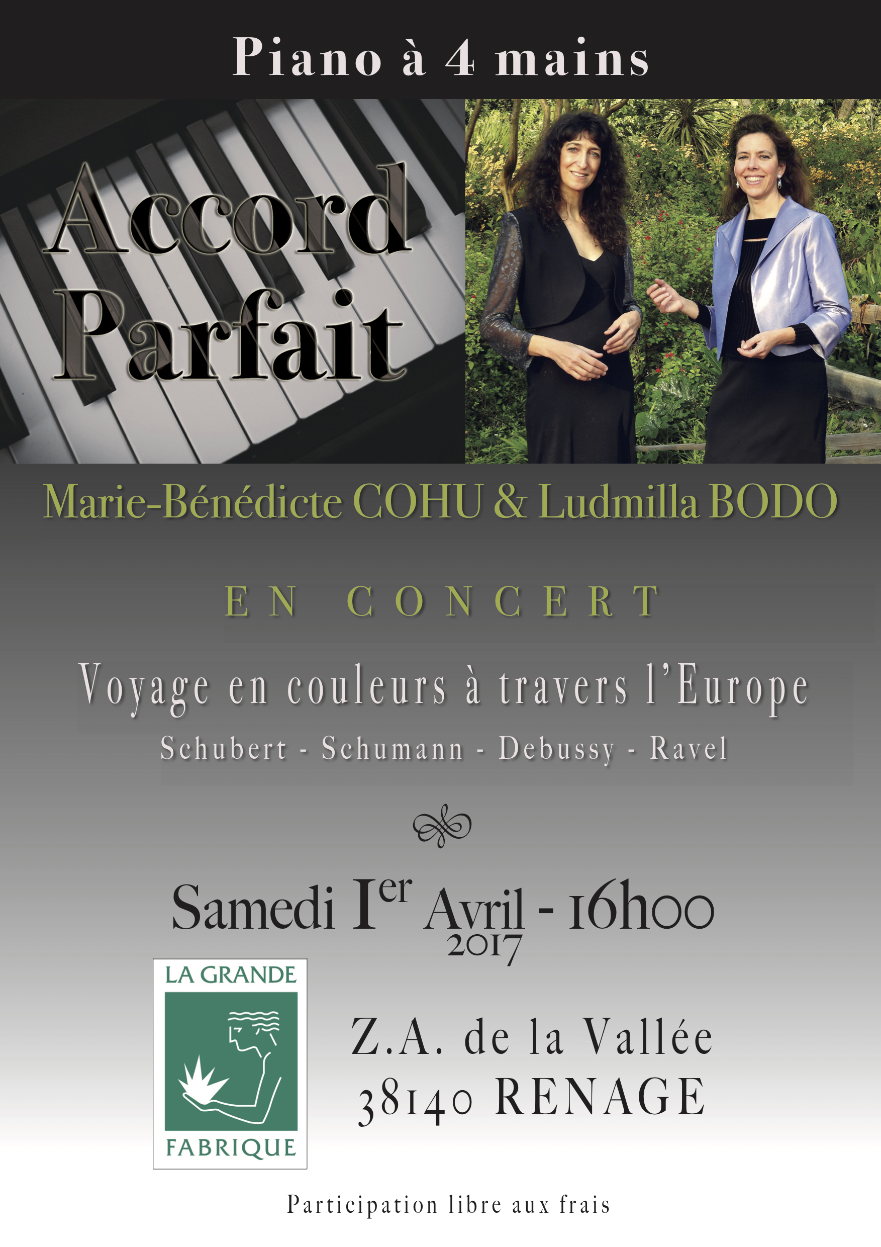 Concert 4 mains Duo Accord Parfait