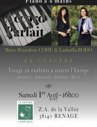 Concert 4 mains Duo Accord Parfait