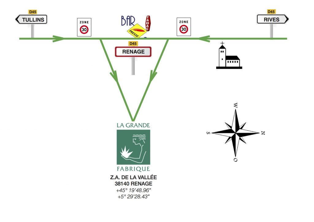 Plan d'accès local